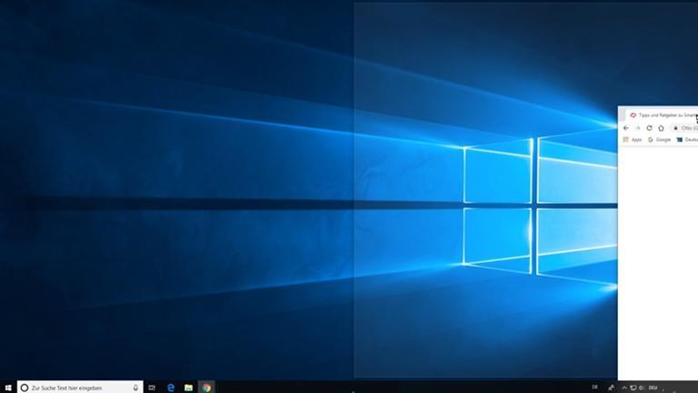 Bildschirm teilen bei Windows 10 mit Snap Assist Screenshot 2