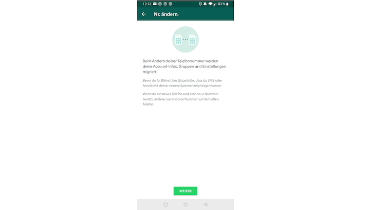 WhatsApp Blockade neue Telefonnummer