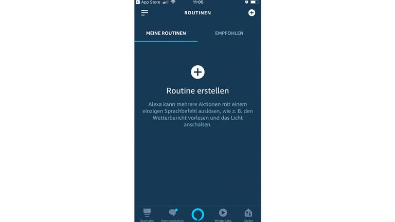 """Routinen erstellen in der """"Alexa""""-App"""