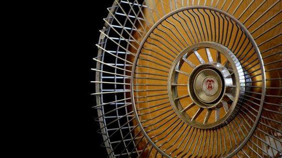 Rotorblätter eines Ventilators in Aktion