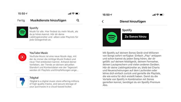 Screenshot Sonos