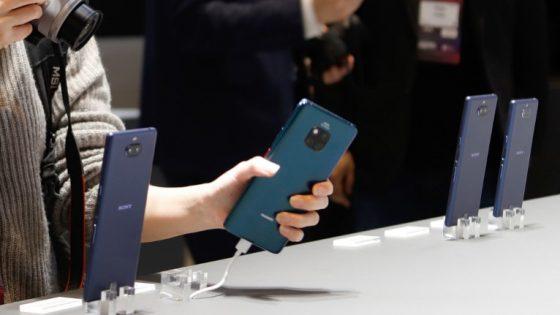 Sony-Smartphones auf Messe