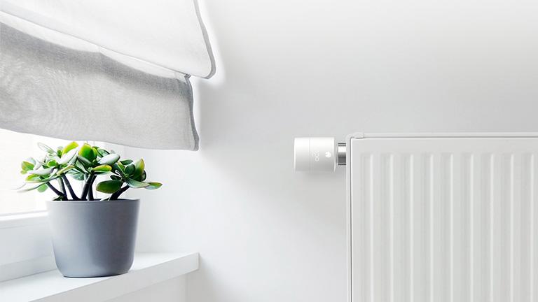 Smartes Tado-Heizkörperthermostat in einer Wohnung