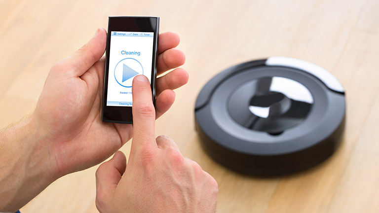 Saugroboter per Smartphone bedienen