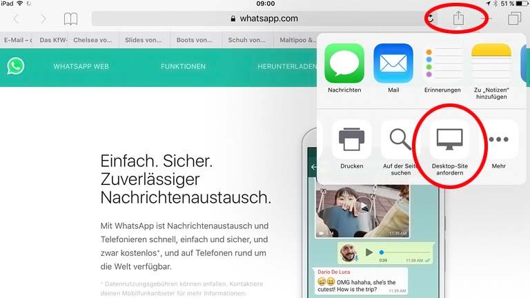 WhatsApp fürs iPad: Mit einem Trick den Messenger auf dem Tablet nutzen