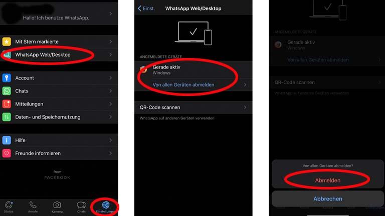 WhatsApp fürs iPad: In wenigen Schritten aus der Web-App abmelden