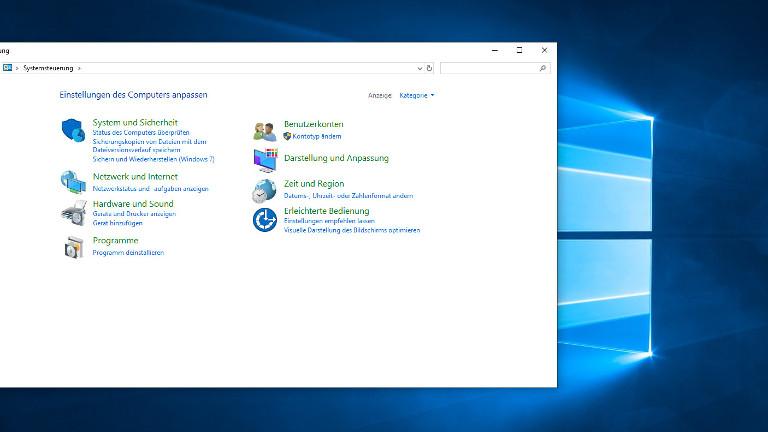 System und Sicherheit bei Windows 10
