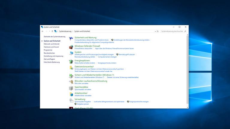 Energieoptionen bei Windows 10