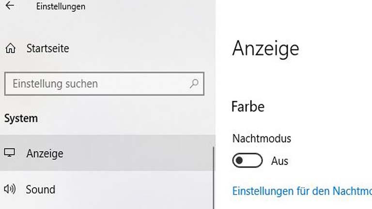 Windows 10: Nachtmodus manuell aktivieren und ausschalten