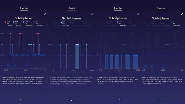 Fitbit Schlafphasen: Anfang und Ende der Schlafphasen einsehen