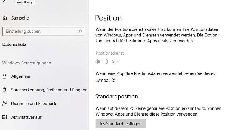 Windows 10: Nachtmodus über Positionsdaten automatisch aktivieren lassen