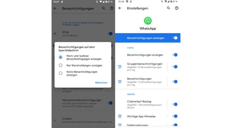App-Benachrichtigungen aktivieren auf Google Pixel