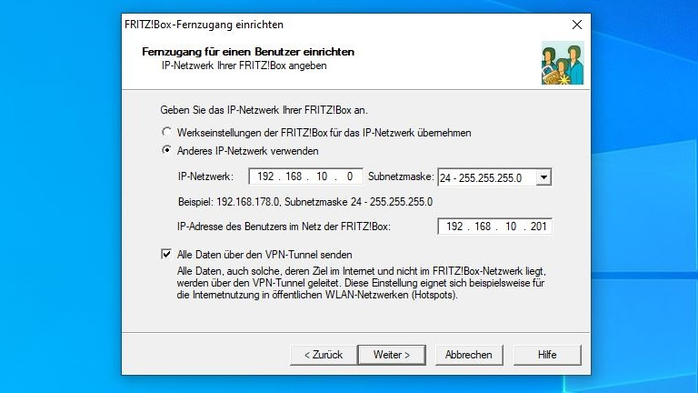 Fritzbox-Fernzugang: IP-Adressen eingeben