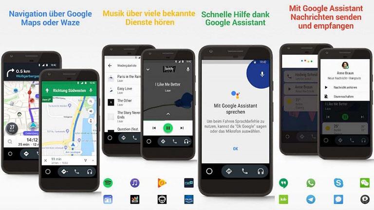Funktionen von Android Auto