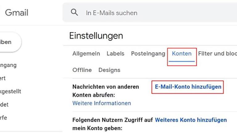 Gmail E-Mail-Konto hinzufügen