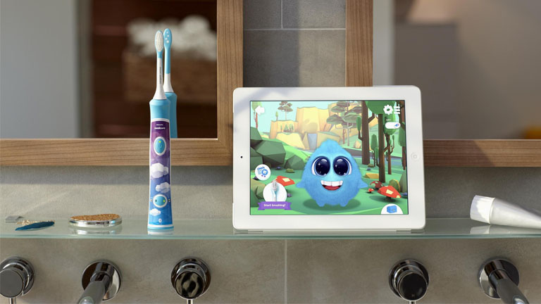 Elektrische Zahnbürste für Kinder: Mit App-Unterstützung gründlich Zähne putzen
