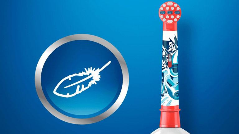 Elektrische Zahnbürste für Kinder: Zahnbürste und Bürstenkopf sollten Kinderzähne und -Zahnfleisch schonen