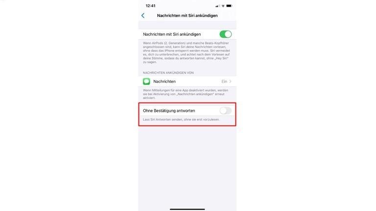 Nachrichten mit Siri sofort beantworten
