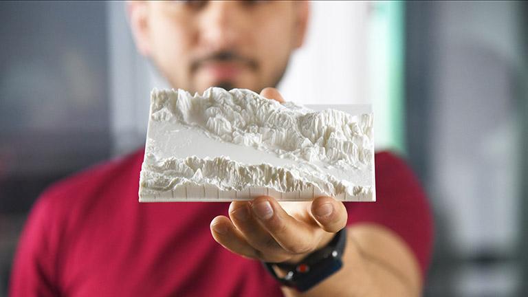 Landschaft aus dem 3D-Drucker