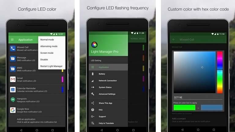Android-Benachrichtigungs-LED: Farbe mit Light-Manager-App ändern und Leuchtintervall anpassen