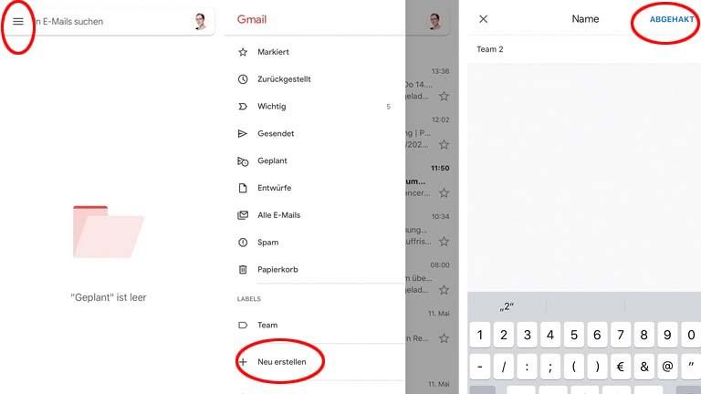 Google Mail: Gmail-Label mit der iOS-App erstellen