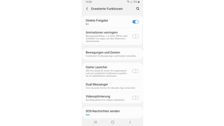 Screenshot der Dual-Messenger-Funktion bei Samsung