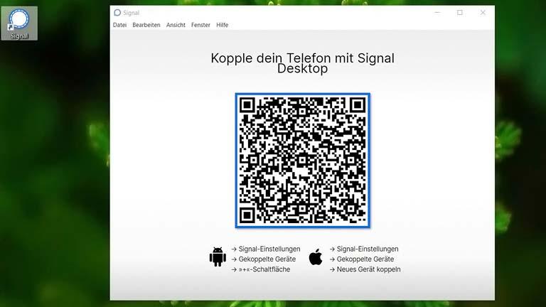 Signal Desktop QR-Code