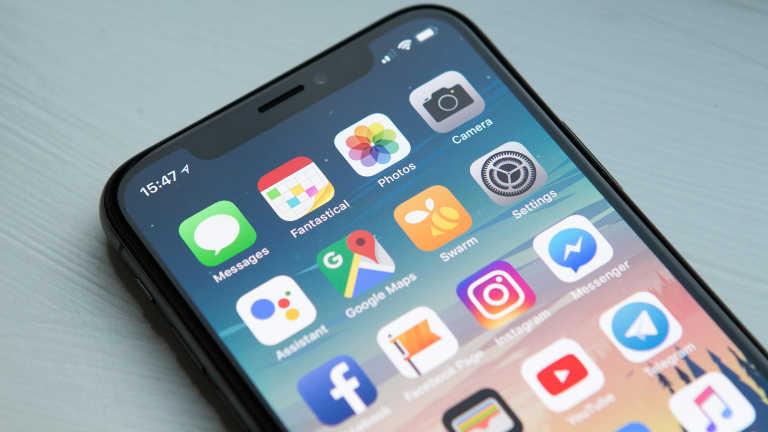 Smartphone App-Menü