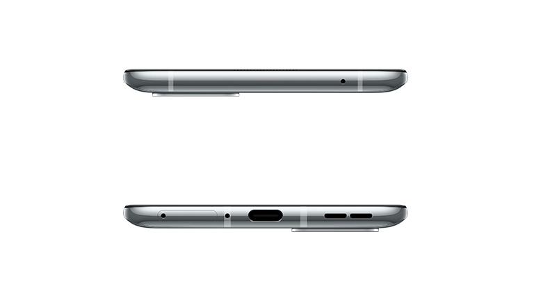 Produktbild eines liegenden OnePlus 8T.
