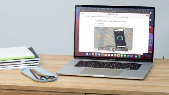 Ein MacBook Pro mit der geöffneten Bildschirmfoto-App.