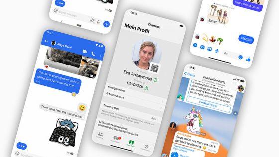 Collage verschiedener Screenshots von Instant-Messengern.