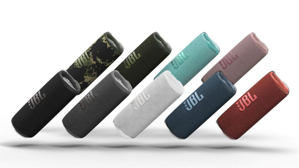 Der JBL Flip 6 in unterschiedlichen Farben.